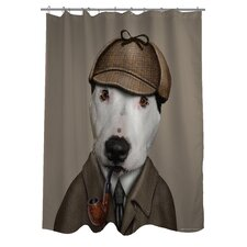Pets Rock Detective Polyester Shower Curtain