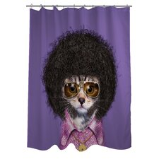 Pets Rock Disco Polyester Shower Curtain
