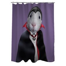 Pets Rock Dracula Polyester Shower Curtain