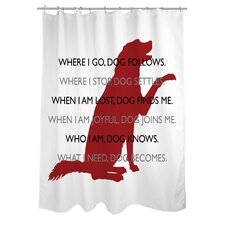 Doggy Decor Dog Codependent Polyester Shower Curtain