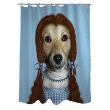 Pets Rock Ruby Polyester Shower Curtain