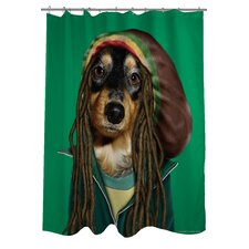 Pets Rock Reggae Polyester Shower Curtain