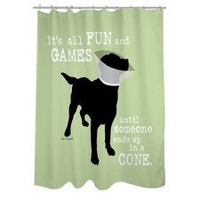 Doggy Decor Fun and Games Polyester Shower Curtain