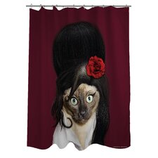 Pets Rock Tattoo Polyester Shower Curtain