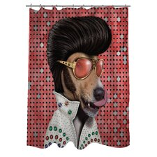 <strong>OneBellaCasa.com</strong> Pets Rock Vegas Polyester Shower Curtain