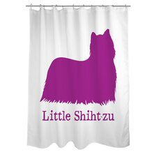 <strong>OneBellaCasa.com</strong> Doggy Decor Little Shihtzu Polyester Shower Curtain