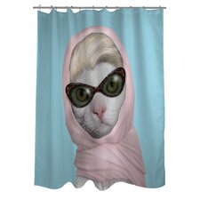 <strong>OneBellaCasa.com</strong> Pets Rock Princess Polyester Shower Curtain
