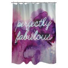 <strong>OneBellaCasa.com</strong> Oliver Gal Perfectly Fabulous Polyester Shower Curtain