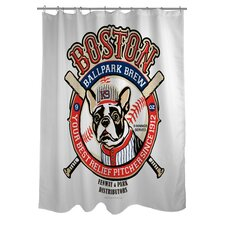 Doggy Decor Boston Brew Polyester Shower Curtain