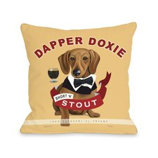Doggy Décor Dapper Doxie Pillow