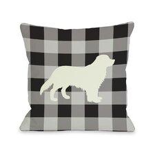 Doggy Décor Gingham Silhouette Golden Pillow