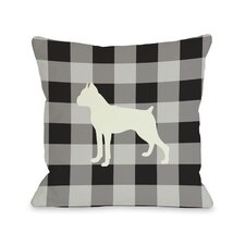 Doggy Décor Gingham Silhouette Boxer Pillow