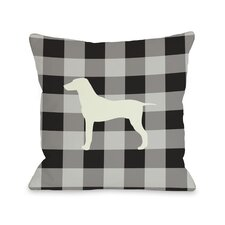 Doggy Décor Gingham Silhouette Mixed Breed Pillow