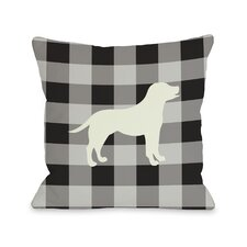 Doggy Décor Gingham Silhouette Lab Pillow