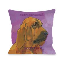 Doggy Décor Bloodhound1 Pillow