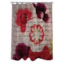 Oliver Gal Victor Hugo's Love Declaration Polyester Shower Curtain