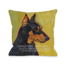 Doggy Décor Miniature Pinscher 1 Pillow