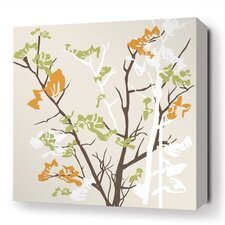 Rhythm Ailanthus Stretched Graphic Art on Canvas in Wheat