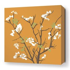 Rhythm Ailanthus Stretched Graphic Art on Canvas in Sunshine