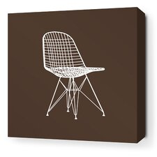 Modern Classics 1951 Stretched Wall Art in Chocolate and Sunshine