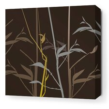 <strong>Inhabit</strong> Morning Glory Tall Grass Stretched Wall Art in Charcoal and Olive