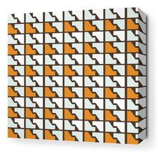 <strong>Inhabit</strong> Estrella Faux Houndstooth Stretched Wall Art in Sunshine
