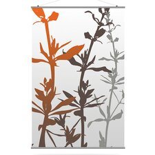 Morning Glory Wildflower Slat in Silver and Rust