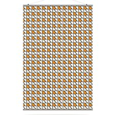 <strong>Inhabit</strong> Estrella Faux Houndstooth Slat Wall Hanging