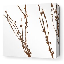 <strong>Inhabit</strong> Morning Glory Undergrowth Stretched Wall Art in Chocolate