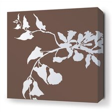 <strong>Inhabit</strong> Morning Glory Stretched Wall Art in Chocolate