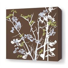 <strong>Inhabit</strong> Ailanthus Stretched Wall Art in Chocolate