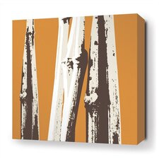 Bamboo Stretched Wall Art in Sunshine