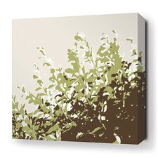 Foliage Stretched Wall Art in Grass