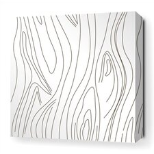 <strong>Inhabit</strong> Madera Stretched Wall Art in White