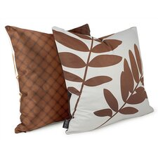 Rhythm Leaf Suede Throw Pillow
