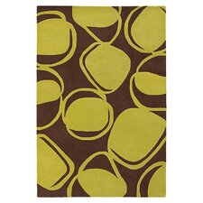 River Rock Rug in Chocolate/ Kiwi