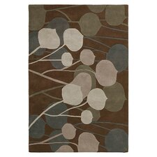 Seedling Rug in Chocolate/ Natural