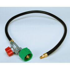 Clam Shell Packed High Pressure Adjustable Regulator and Listed LP Hose with Male Pipe Thread and Orifice