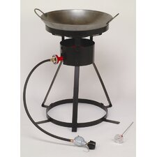 <strong>King Kooker</strong> Bolt Together Outdoor Cooker with Steel Wok and 2 Wooden Utensils