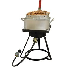 Square Top Bolt Together Outdoor Fish Fryer with 12 Quart Square Aluminum Pot