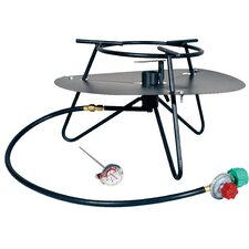 <strong>King Kooker</strong> Heavy Duty Jet Burner Outdoor Cooker Package with Baffle and Rond Bar Legs