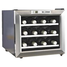 <strong>Wine Enthusiast</strong> Silent 12 Bottle Wine Refrigerator