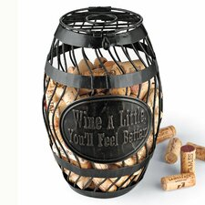 Wine A Little Wine Barrel Cork Catcher