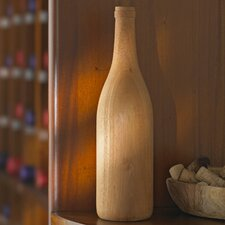Wooden Burgundy Wine Bottle