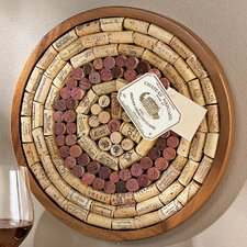 "Round Wine Cork Board Kit 1' 3"" x 1' 3"" Bulletin Board"