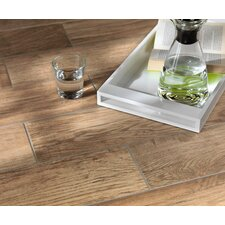 "Vivaldi 24.25"" x 3.25"" Glazed Bullnose Tile Tile Trim in Summer"