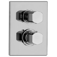 J12 Bath Series Thermostatic Valve Body with Diverter and Trim