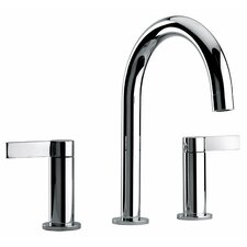 <strong>Jewel Faucets</strong> J14 Bath Series Two Lever Handle Widespread Bathroom Faucet with Classic Spout