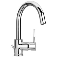 J16 Bath Series Single Lever Handle Bathroom Faucet with Goose Neck Spout