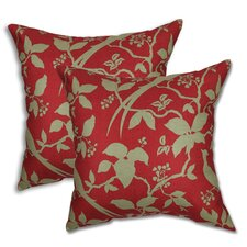 Hear Crismson Tide Pillow (Set of 2)